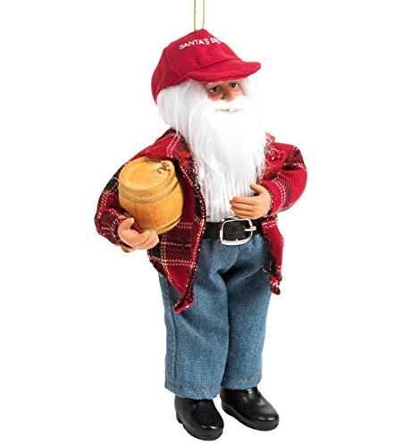 Santa's Workshop Moldable Santa Ornament – 9″ Brew Santa