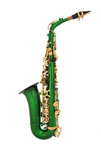 Lazarro 360-GR E-Flat Eb Alto Saxophone Royal Green, Gold ...