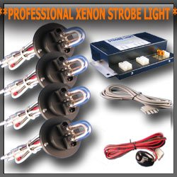 Car Strobe High Power Light Kit with 4 Bulbs HID LED Bike Car Alarm