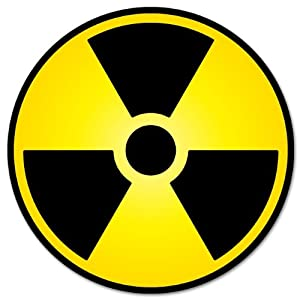 Amazon.com: Nuclear Radiation Warning sign sticker decal 4 ...