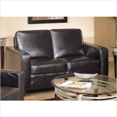 Buy Low Price Wildon Home Bycast Leather Match Loveseat in Dark Brown (B004A95FNO)