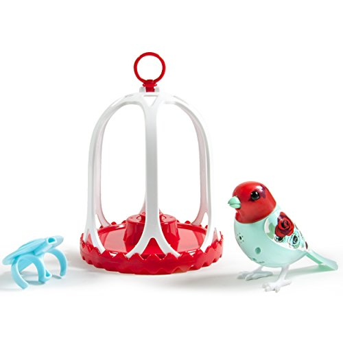 DigiBirds - Bird with Bird Cage - Rose - 1