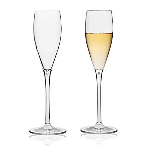 MICHLEY-Unbreakable-Champagne-Flutes-Glasses-100-Tritan-Shatterproof-Wine-Glasses-BPA-free-Dishwasher-safe-53-oz