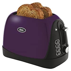 Oster Metallic Purple 2 Slice Toaster with Bagel Option