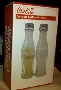 Coca-Cola Glass Salt and Pepper Shakers