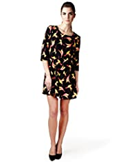 Limited Collection Hummingbird Print Dress
