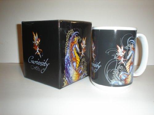 Amy Brown Curiosity Dragon & Fairy Coffee Cup Mug