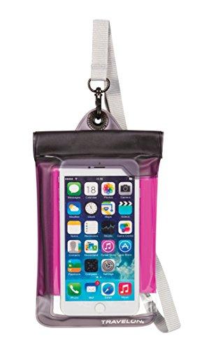 travelon-waterproof-smart-phone-digital-camera-pouch-pink-one-size