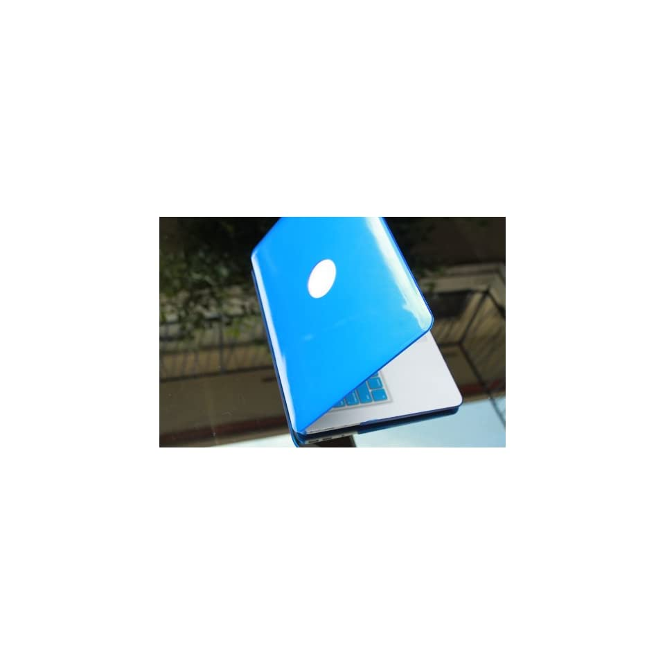 BLUE SOLID Hard Case Cover for NEW Macbook AIR 11 with the frosted soft touch silicone keyboard cover and mini nano stapler