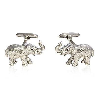Cuff-Daddy Silver Elephant Cufflinks