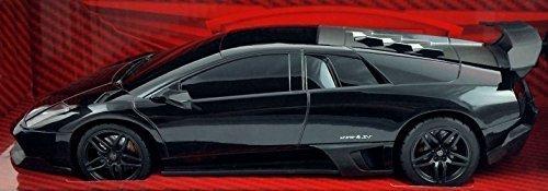 "Luxe Radio Control Black Lamborghini Murcielago LP 670-4 SV, 7"" Full Fuction Radio Controlled, Gloss Black"