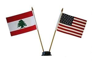 Usa Lebanon Small 4 X 6 Inch Mini Double