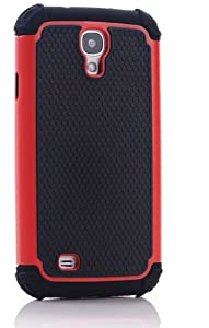 CaseMore Red Plastic + Silicon Material Protective Armor Case for Samsung Galaxy S4 S IV i9500