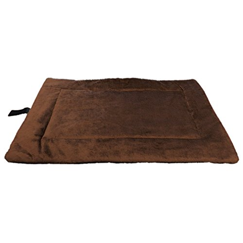 Evelots Self Heating Pet Bed 25 Inch by 20 Inch, Soft & Brow
