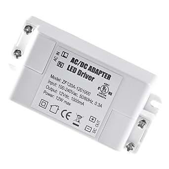 TWLC 12V 1A 12W Tension Constante AC/DC LED Transformateur/Driver