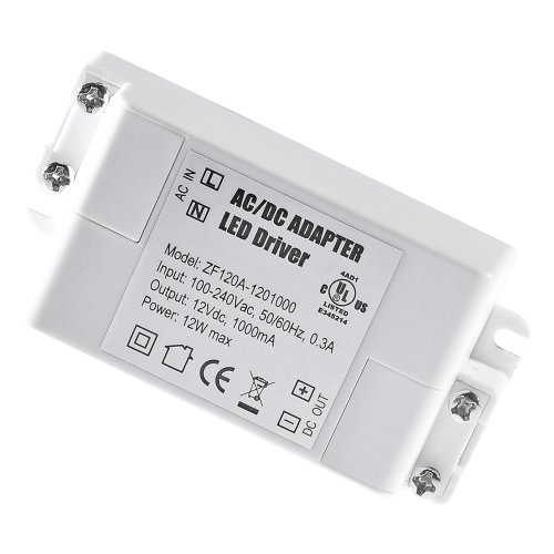 Miniwatts 12V 1A 12W Constant Voltage Ac/Dc Led Transformer/Driver