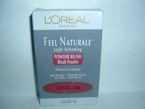 L'Oreal Paris Feel Naturale Blush, Pinched Pink, 0.25 Ounce
