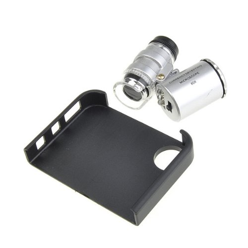 Bestdealusa New 60X Zoom Mobile Microscope Micro Lens For Apple Iphone 4 4S Uv + Led