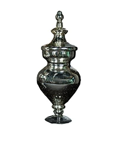 Winward Mercury Glass Apothecary Jar, Silver
