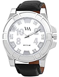 WATCH ME WHITE BROWN LEATHER ANALOG WATCH FOR MEN AND BOYS WMAL-108-W