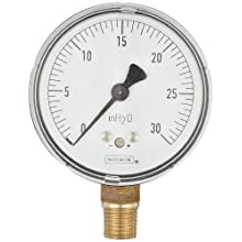 NOSHOK 200 Series Steel Dry Dial Indicating Low Pressure Diaphragm Gauge