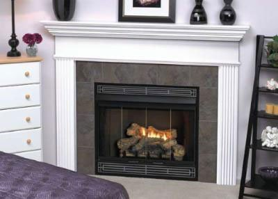 Deluxe Direct Ignition 34 inch Louver B-Vent Fireplace - Natural Gas (Gas Fireplace Empire compare prices)