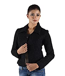 Owncraft Women's Woolen Jacket (Own_662_Black_X-Small)