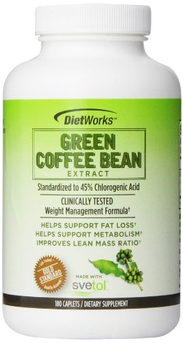 Dietworks Green Coffee Bean Extract Caplets, 180 Count (Green Coffee Bean Extract Svetol compare prices)