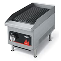 Vollrath 40728 Cayenne Stainless Steel Radiant/Lava Rock Charbroiler, 12-Inch