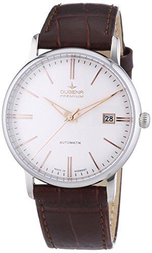 Dugena Premium  - Reloj de automático para hombre, con correa de cuero, color marrón
