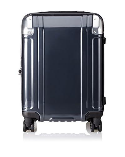 ZERO Halliburton Geo Polycarbonate Carry On 4-Wheel Spinner Travel Case, Gun Metal