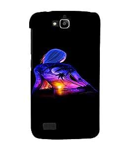 PrintVisa Cool Girl Beach Sunset Design 3D Hard Polycarbonate Designer Back Case Cover for Huawei Honor Holly