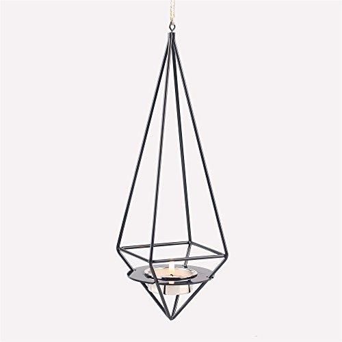 Staccabile Da Appendere Set geometrico custodia porta candela fiore Air pianta vaso Himmeli Nero