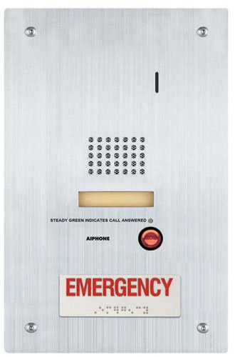 """Aiphone Corporation Is-Ss-Ra-R Flush Mount Audio Door Station With Emergency Call Button, Stainless Steel, 7"""" X 11-3/4"""" X 1-7/8"""""""