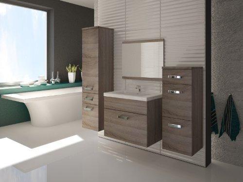 Badmbel-Badezimmer-EVO-5tlg-Set-in-Sonoma-Eiche-Trffel