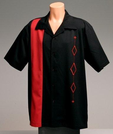 Sales Mens Retro Bowling Shirt Big Tall Sizes Small