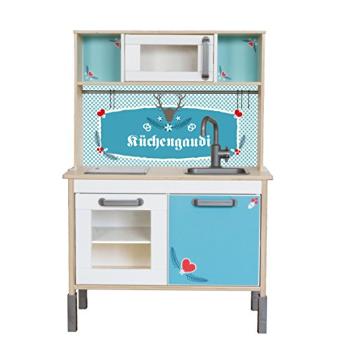 aufkleber passend f r deine ikea kinderk che duktig farbe mint kinderzimmer dekoration. Black Bedroom Furniture Sets. Home Design Ideas