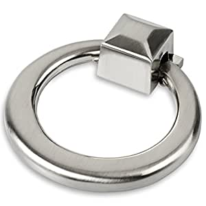 Southern Hills Brushed Nickel Ring Pulls Pack Of 5 Nickel