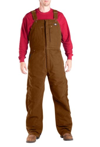 Dickies Men's Insulated Bib Overall, Brown Duck,Large-Regular (Dickies Bib Coveralls Insulated compare prices)