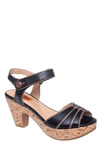 Corbin High Heel Ankle Strap Clog Sandal