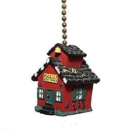 Little Red SCHOOL House teacher Ceiling FAN PULL light chain extender extension