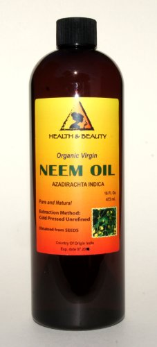 Neem Oil Virgin Organic Carrier Unrefined Cold Pressed 32 Oz front-1030477