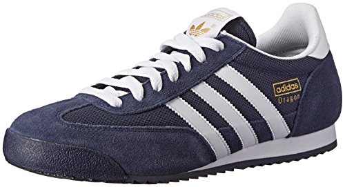 Adidas Originals Men's Dragon Fashion Sneaker,New Navy/White/Metallic Gold,9 D US