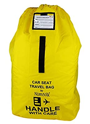 Car Seat Travel Bag - Ultra Rugged Ballistic Nylon, Best for Airport, Airplane Gate Check, Comfortable Padded Shoulder Strap And Carry Handle, Yellow by NimNik Baby that we recomend individually.