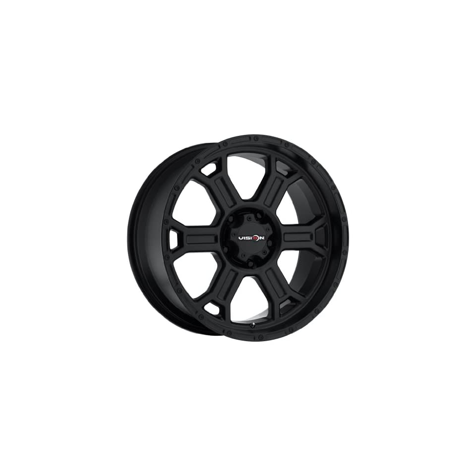 Vision 372 Raptor Wheel with Matte Black Finish (20x9.5/6x5.5,  12mm offset)