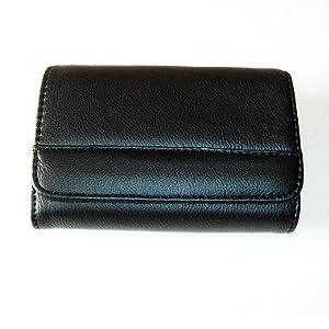 IT005B Luxury black leather Camera case for Sony DSC T90 T70 TX1 T2 T5 T9
