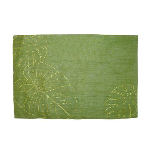 tommy bahama linen palms placemat green 4 pack the