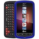 Lg Vs700 Enlighten/ls700 Optimus Slider Rubberized Snap-on Cover, Blue