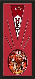 Miami Heat Wool Felt Mini Pennant & LeBron James Portrait plus photo - Framed... by Art and More, Davenport, IA
