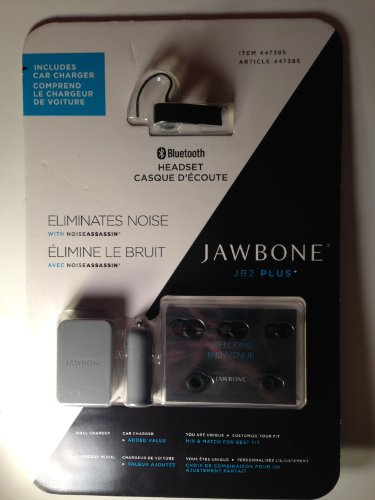 Aliph Jawbone Ii Bluetooth Headset With Noiseassassin (Black) Inlcudes Car Charger